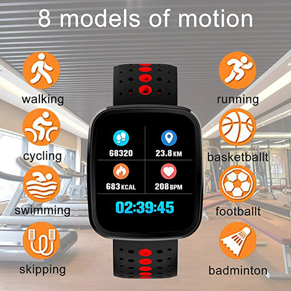 Multi-language Smart Watch Men 3D Sensor Smart Bracelet Drinking Reminder Wearable Devices for Android IOS Sport Watches for Men