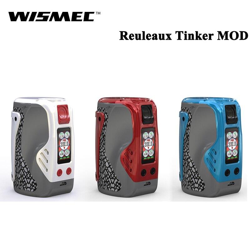 Original Wismec Reuleaux Tinker 300W REULEAUX TINKER TC VM Box MOD Electronic Cigarette Vape Vaporizer Support