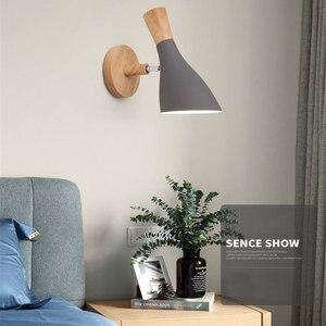Image 4 - נורדי מינימליסטי יצירתי macaron מוצק עץ ליד המיטה בחדר שינה סלון מחקר מעבר מנורות