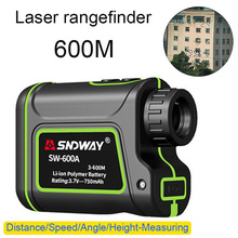 Hot New Multifunction Telescope Laser Rangefinder 600/1000 / 1500M Handheld Monocular Golf Hunting rangefinder Build in battery