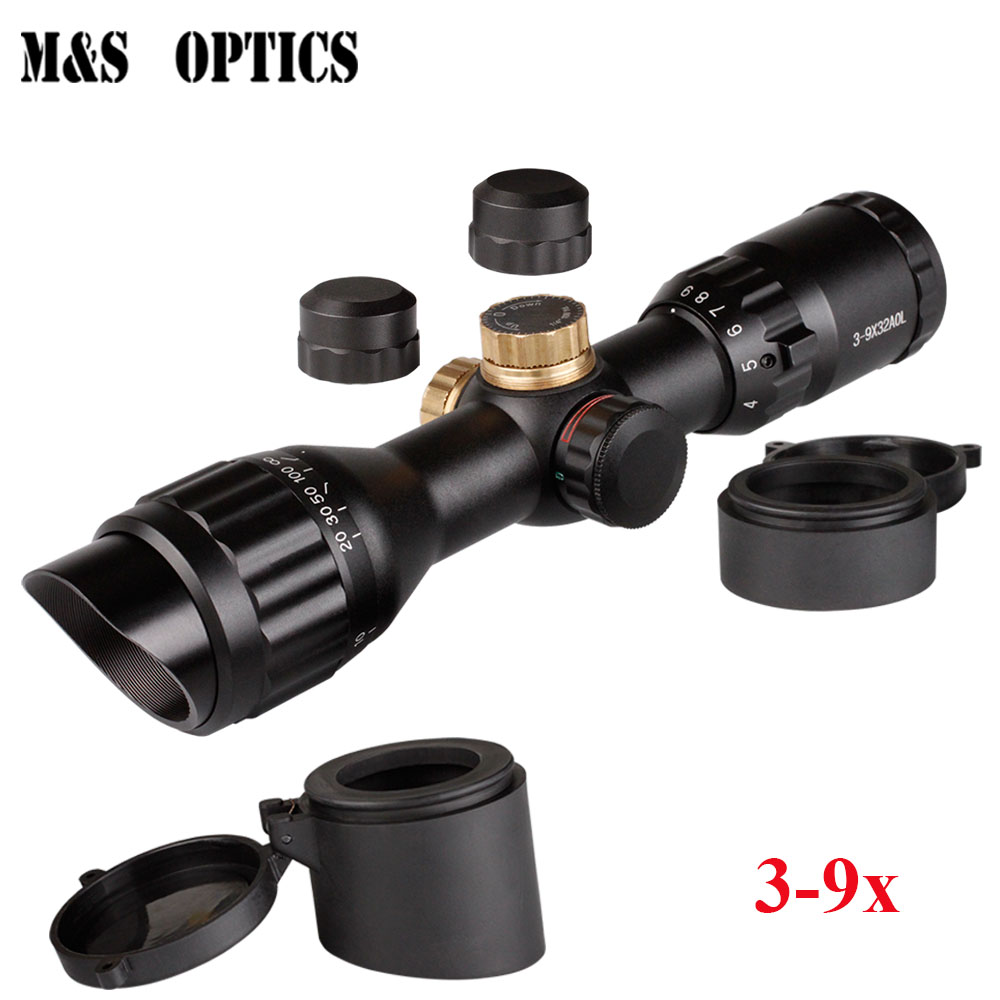 Optical Sight 3-9x32 Red And Green RIFLE Hunting Airsoft Air Guns Riflescopes With Scopes Accessory For Pneumatic Gun For AdultsOptical Sight 3-9x32 Red And Green RIFLE Hunting Airsoft Air Guns Riflescopes With Scopes Accessory For Pneumatic Gun For Adults