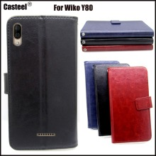 Casteel Classic Flight Series high quality PU skin leather case For Wiko Y80 Case Cover Shield
