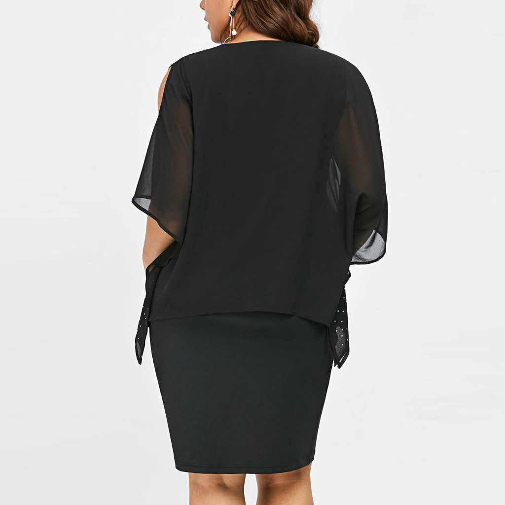 新しい夏ドレス女性プラスサイズ 5xl O ネック固体冷ショルダー非対称光沢のあるエレガントな女性パーティーミニドレス vestidos
