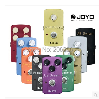 Hot Guitar Pedals JOYO Effect Wholesale Cheap Any 4pcs Bulk , JF 01 02 03 to JF 39 Overdrive Distortion Chorus Phase Delay etc.