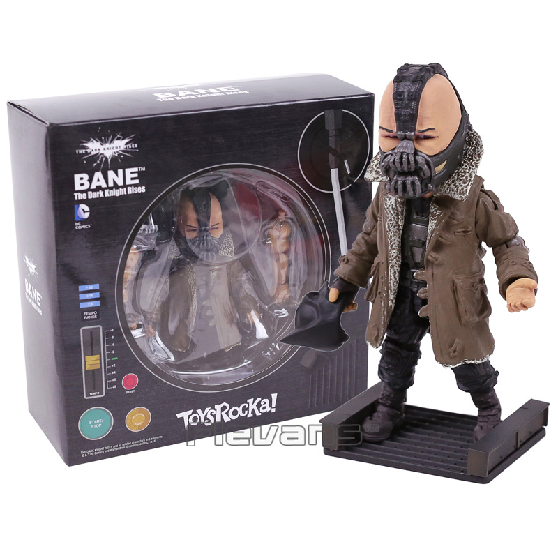 TOYS ROCKA! The Dark Night Rises Batman Bane Joker PVC Action Figure Collectible Model Toy (eyes can move) 3 Styles neca planet of the apes gorilla soldier pvc action figure collectible toy 8 20cm