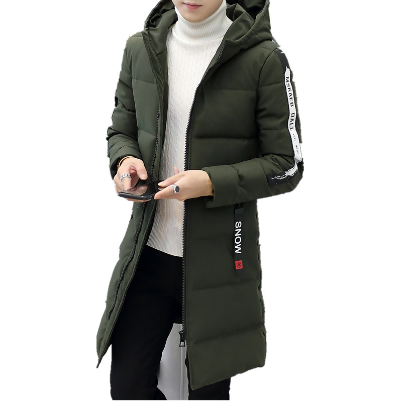 Fashion New Men's Parka Thick Warm Winter Male Coat  Men Quilted Jacket Hoody Parka Long Cotton Hoodie Costume