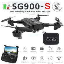 SG900-S SG900S GPS pliable Drone professionnel avec caméra 1080P HD Selfie WiFi FPV grand Angle RC quadrirotor hélicoptère jouets F11(China)
