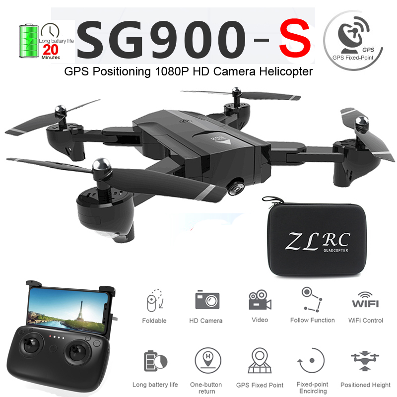 SG900-S SG900S GPS pliable Drone professionnel avec caméra 1080P HD Selfie WiFi FPV grand Angle RC quadrirotor hélicoptère jouets F11