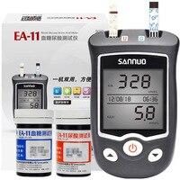 Sinocare EA 11 Uric Acid Glucose Testing Meter Kit with 50 Glucose Test strips 25 Uric acid strips houlsehold Diabetes Device
