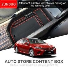 Zunduo для Toyota Camry 2018 автомобиля центральный подлокотник ящик для хранения Салонные аксессуары Средства ухода для автомобиля