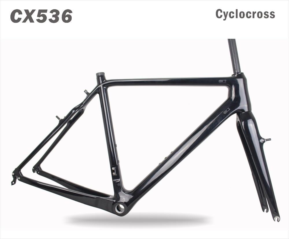2018 MIRACLE Thru Axle 700x42C Carbon CycloCross Frame V-brake Di2&Mechanical Cyclocross Bike Frame/fork