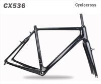 2018 MIRACLE Thru axle 700x42C Carbon CycloCross Frame V brake Di2&Mechanical Cyclocross bike frame/fork