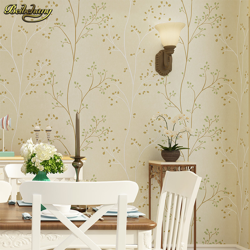 beibehang American pastoral three - dimensional small tree non - woven wallpaper living room TV sofa background bedroom bedside non woven bubble butterfly wallpaper design modern pastoral flock 3d circle wall paper for living room background walls 10m roll