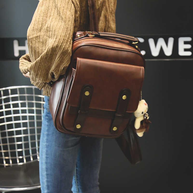 Женский рюкзак, Женский брендовый рюкзак в стиле колледжа, кожаные школьные рюкзаки, винтажный школьный рюкзак в стиле ретро