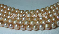 Wholesale 5strands 9 10mm Pink Round Freshwater Pearl Beads