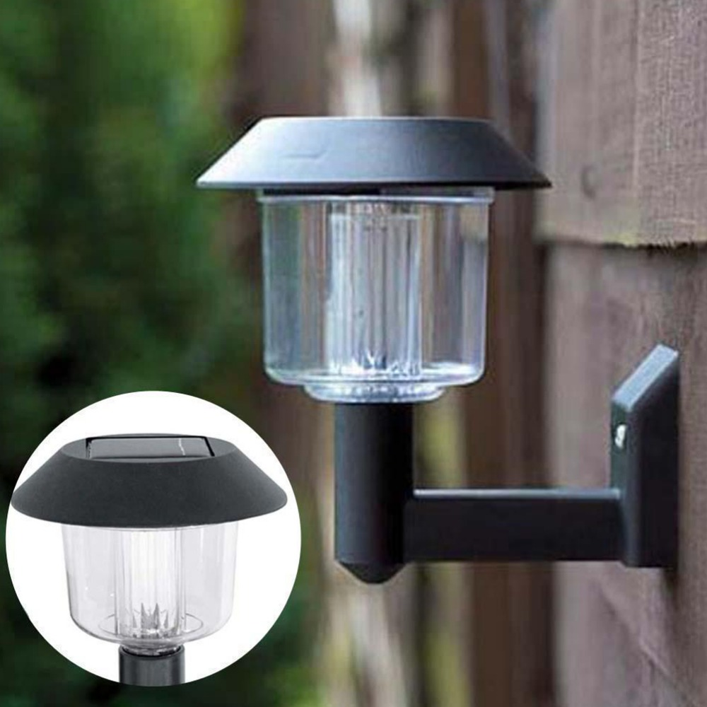 1pc Outdoor Solar Powered Wall Light Auto Sensor Fence LED Garden Yard Fence Lamp New Arrival