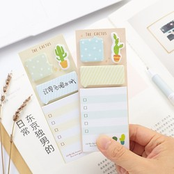 NOVERTY 1PCS Cactus Cute Memo Pad Notepad Kawaii Self-adhesive Sticky Notes Planner Stickers School Stationery Supplies 01945