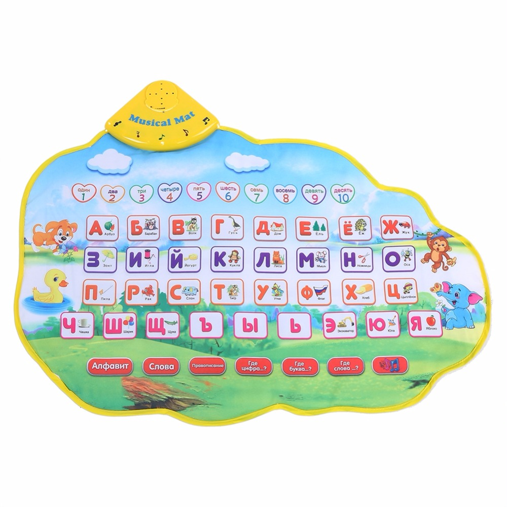 Baby Play Mats Russian Alphabet Kids Playing Mat Music Animal Sounds Toys Electronic Edu ...