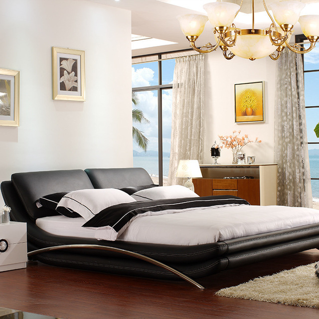 Bed on sale product supplies wholesale Ai yi furniture leather ...