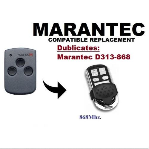 Marantec D313 868Mhz Garage Door/Gate Remote Control Replacement/Duplicator