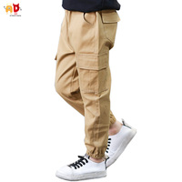 AD Teens Boys Cargo Pants Cotton Fabric Big Kids Trousers For 100 160cm Children S Clothing