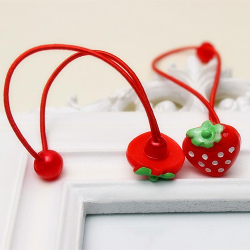 Зажим для волос, мода для девочек красный клубника оголовье милый горошек заколки для волос Заколки Принцесса Подарок 4 шт.
