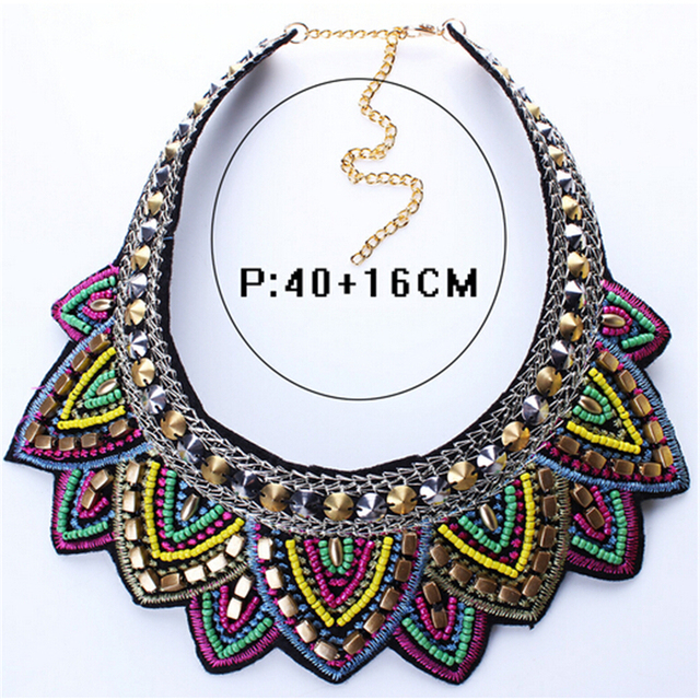 Female vintage choker pendants&necklaces big boho necklaces ethnic bohemian jewelry statement tribal Colorful bijoux femme mujer 1