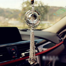 Hot Car Rear View Mirror Pendant Glass Car Hanging Ornament Car Interior Decoration Accessories