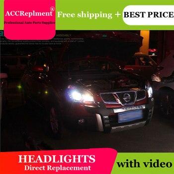AUTO PRO 2008-2015 qashqai headlight car styling qashqai head lamp12 high brightness LED DRL parking bi xenon lens H7 HID Kit