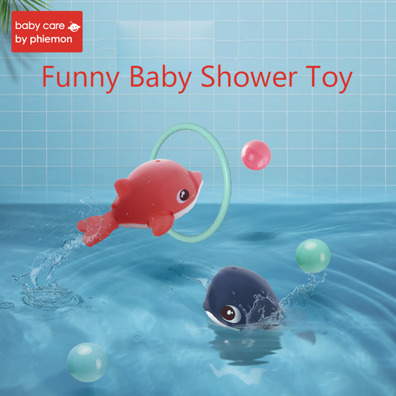 Baby Bath Toys Whale Dolphin Aquatic Cognitive Floating