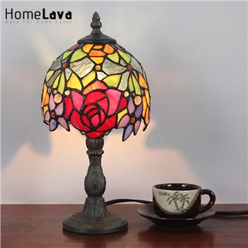 6inch European Pastoral Retro Style Table Lamp Colorful Flower Pattern Lamp Shade Bedroom Living Room Dining Room Lights a1 master bedroom living room lamp crystal pendant lights dining room lamp european style dual use fashion pendant lamps