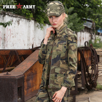 Free Army Brand Hot Sale 2015 New Fashion Streetwear Casual Zipper Slim Cool Women Jacket Outerwear