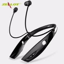 Zealot h1 deporte stereo bluetooth headset auriculares auriculares inalámbricos con micrófono de manos libres auricular luminosa para el teléfono