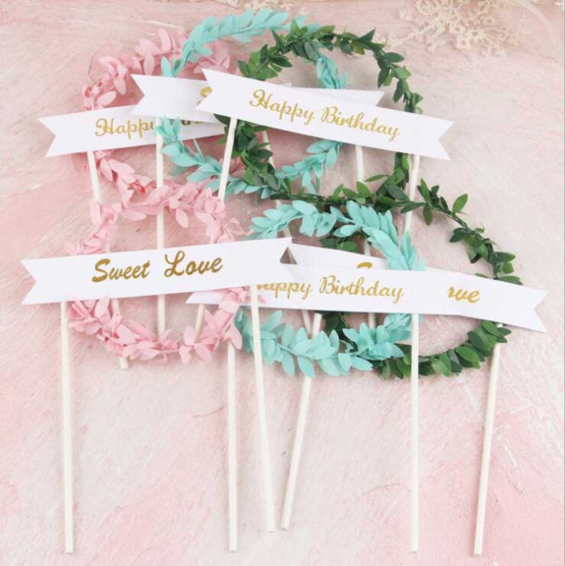 Cake Wedding Party Decor Cupcake Toppers Birthday Decoration Girl Baby Shower