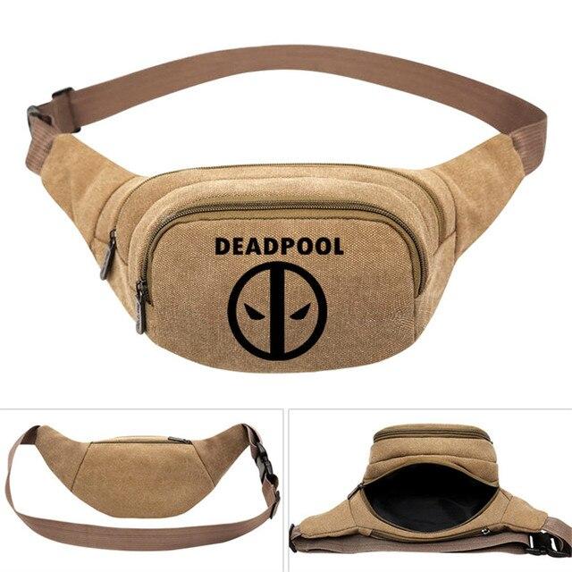 Deadpool Hero Printed Men s Women Canvas Waist Pack Bag Pouch Belt Travel  Hip Casual Fanny Bag Money Phone Belt Bag Gift d23b28a82