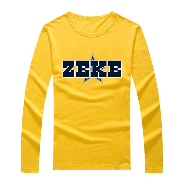 781f414710b 2017 Autumn Winter Ezekiel Elliott #21 Men T Shirt Long Sleeve Tees T SHIRT  Men's S XXXL Cowboys ZEKE Logo W1021015-in T-Shirts from Men's Clothing on  ...
