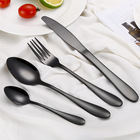 2018 Black Cutlery Set 304 Stainless Steel Dinnerware Set Knife Western Portable Dinner Tableware Set Drop Shipping
