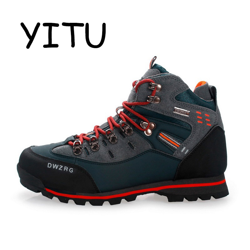 YITU 2018 Summer Hiking Trekking Boots Outdoor Camping Mountain Climbing Shoes Men Waterproof Hiking Sneakers Sport Shoes Brand-in Hiking Shoes from Sports & Entertainment    2