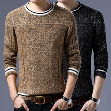 Sweater Men 2017 Autumn Winter Thick Warm Wool Sweaters Casual Slim Fit O-Neck Pullovers Men Cashmere Pull Homme