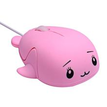 Small Mouse Wired-Mouse-Sprouting Office-Internet-Mouse VOBERRY Pink Mini Girl Cute Personality
