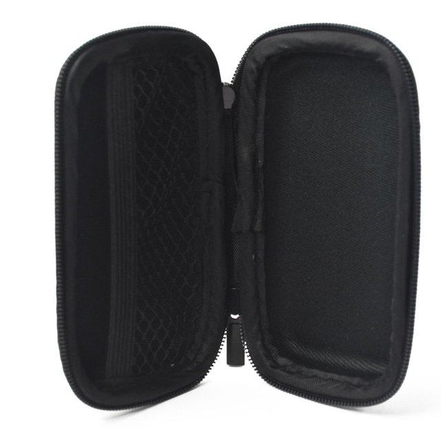 Blue Rectangle Shaped Hard Earphone Headset EVA Case for MP3/MP4 Bluetooth Earphone Earbuds with Mesh Pocket, Zipper Enclosure