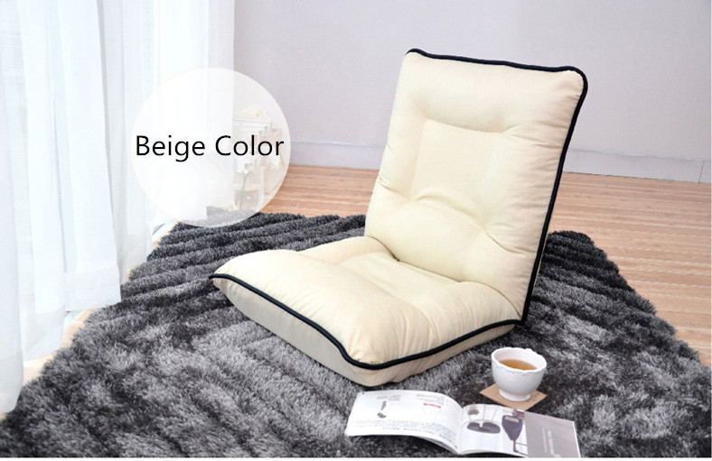 White Leather Sofa Chair Living Room Comfy PU Leather Lounge Recliner  Modern Fashion Leisure Tatami Floor