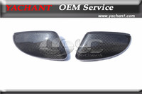 Carbon Fiber Side Mirror Cover Caps Frame Replacement Fit For 2009 2014 Scirocco
