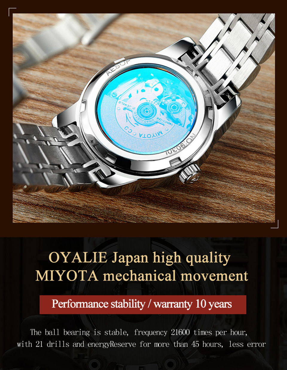 cfd8b2d01a9f AESOP Women watches Ladies watch Japan high quality Automatic ...
