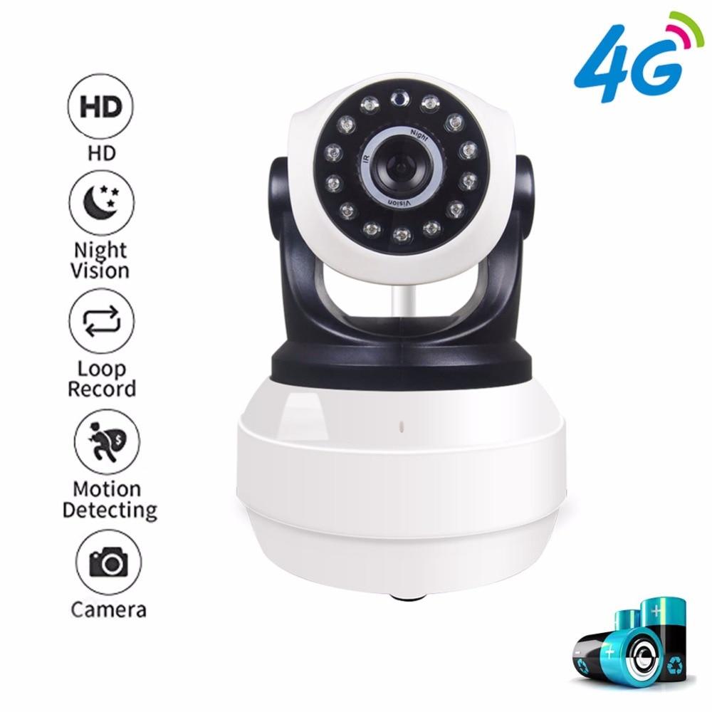 1080P HD PTZ Pan Tilt Wireless 4G GSM SIM Card Camera Video WiFi Camera Battery P2P Network Home Security APP For Remote Hotspot