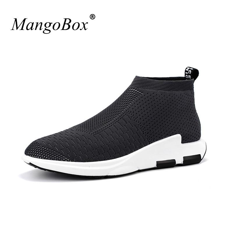 Forró 2017 tavaszi / nyári férfi futó cipők lélegző sportos cipő férfi fekete / piros gyaloglás cipők tornaterem tornaterem cipő
