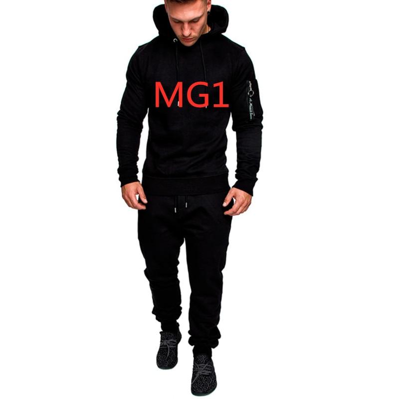 MG1 Men's Hoodies Brand Car Logo Commission Spring Autumn Sportswear Set Suit Sweatshirts Man Jacket Tracksuits Solid Color Suit