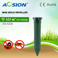 4 Pcs Aosion Outdoor Garden Lawn Use Battery Sonic Rodent Vole Groph Moles Repeller Repellent