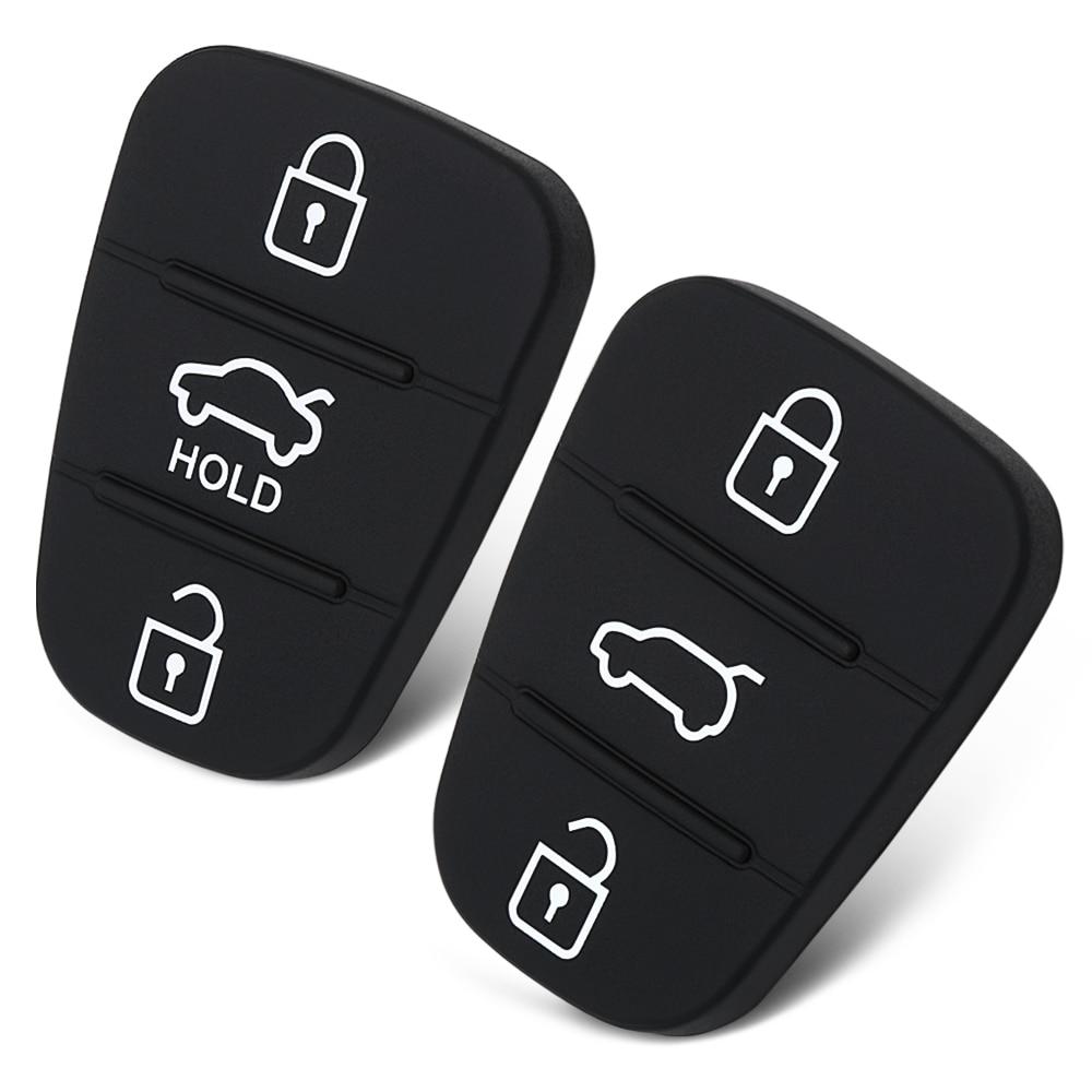 3 Tasten Gummi Pad Schlüssel Shell Für Hyundai I30 Ix35 Für Kia K2 K5 Rio Neue Ersatz Flip Remote Auto Schlüssel Fob Fall Abdeckung