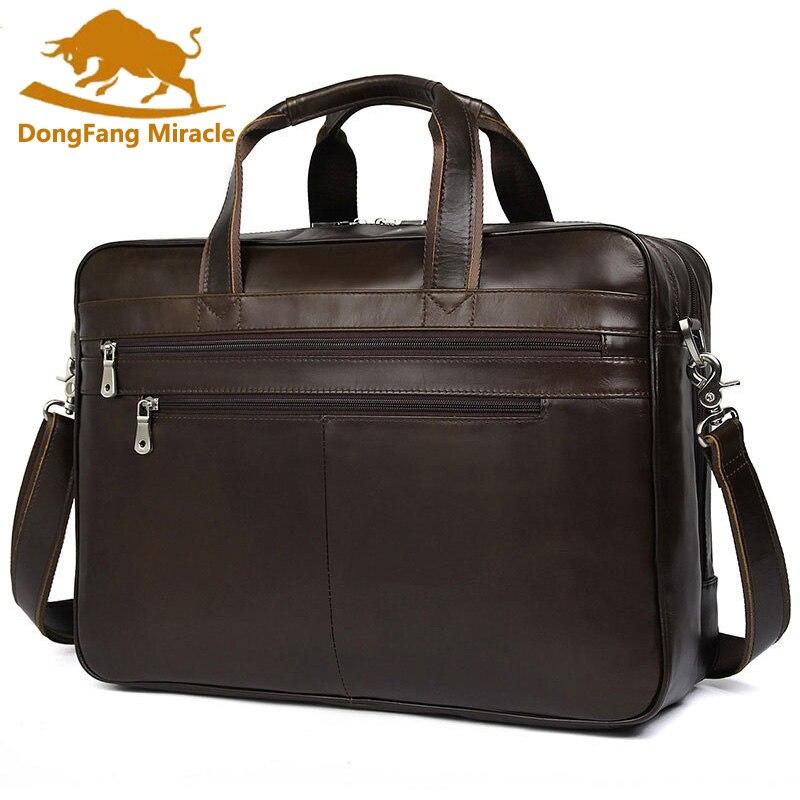 CONTACT'S Вместительная кожаная сумка в винтажном стиле для ноутбука 15.6 инч, может быть использована как дорожная сумка 2019 - 2